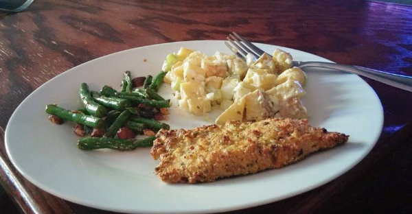 Parmesan Crusted Turkey Chicken