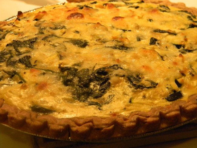 Spinach and Zucchini Pie